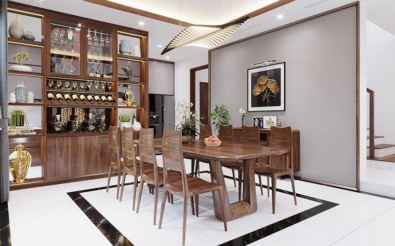 Bộ bàn ăn gỗ óc cho 8 ghế