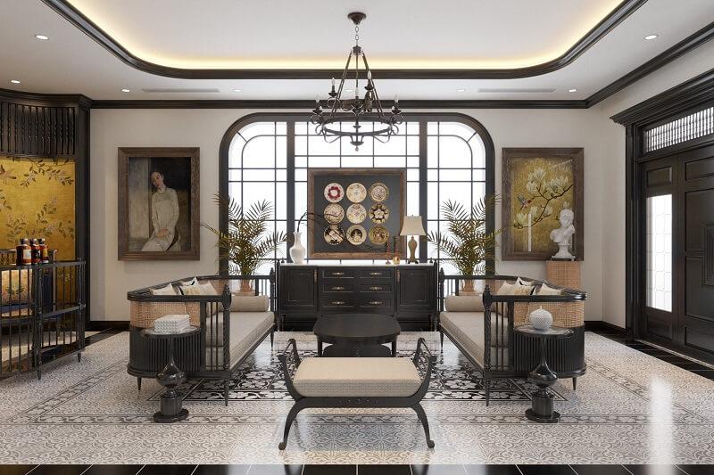Mẫu thiết kế nội thất phong cách Đông Dương đẹp nhất 2021