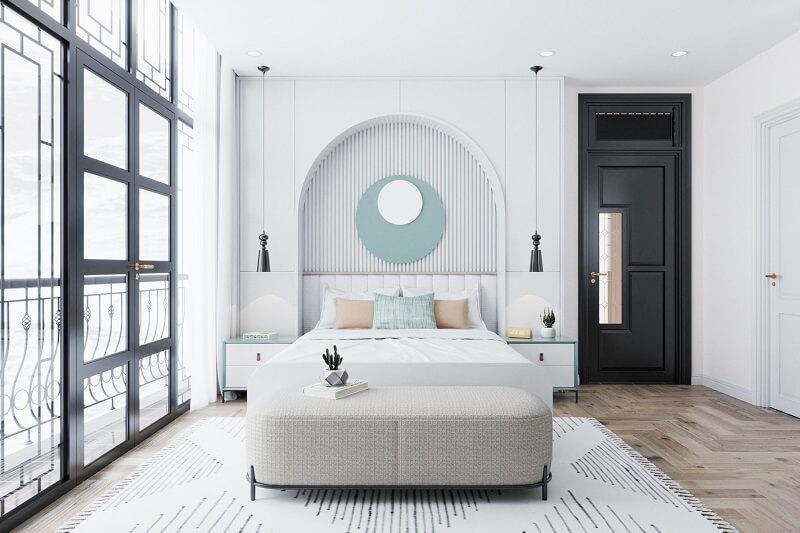 Mẫu thiết kế nội thất phòng ngủ con trai phong cách Đông Dương